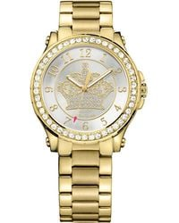 Juicy Couture Women'S Pedigree Gold Ion-Plated Steel Bracelet Watch 38Mm 1901232 gold - Lyst