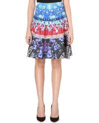Clover Canyon Spanish Fan Neoprene Skirt - Lyst