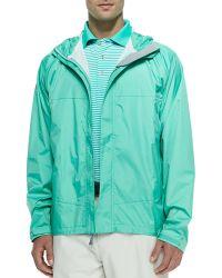 Peter Millar Owen 2.5-Layer Hooded Rain Jacket - Lyst