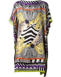 Etro Printed Silk Dress - Lyst