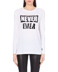 Izzue - I.T Never Ever Printed Jersey Top - For Women - Lyst