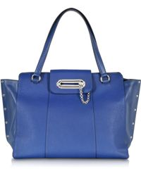 Jean Paul Gaultier - Electric Blue Leather Tote Bag - Lyst