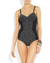 Bottega Veneta - Embellished Panelled Swimsuit - Lyst