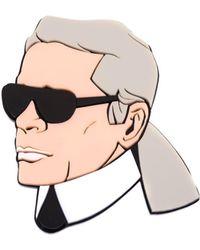 Yazbukey - Karl Lagerfeld Brooch - Lyst