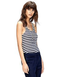 Tommy Hilfiger Runway Gold Piped Stripe Tank - Lyst