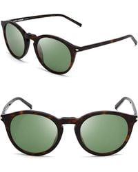 Saint Laurent Round Sunglasses - Lyst