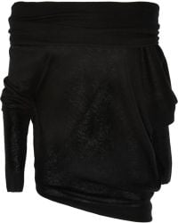 Donna Karan New York Asymmetric Cashmere Sweater - Lyst