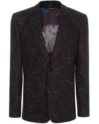 Paul Smith | Men's Grey Textured Jacquard Wool-cotton Buggy Lined Blazer | Lyst
