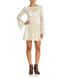Free People Lace Lovers Dress - Lyst