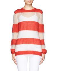 Acne Studios Stripe Mohair Sweater - Lyst