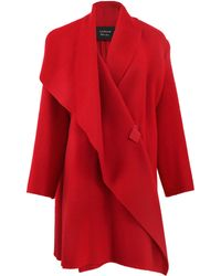 Lanvin Oversized Blanket Coat - Lyst