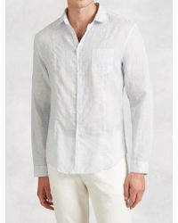 John Varvatos   Linen Shirt   Lyst