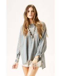 Free People Pointelle Ballet Pullover - Lyst