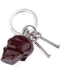 Alexander McQueen Skull Key Ring - Lyst