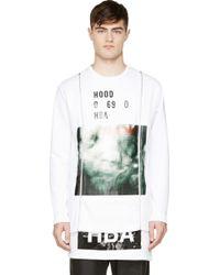 Hood By Air White Layered Zip Sweatershirt - Lyst