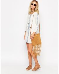 Diya - Emboidered Cheesecloth Long Sleeve Gypsy Dress - Lyst