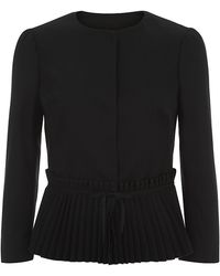 RED Valentino Pleated Skirt Jacket - Lyst