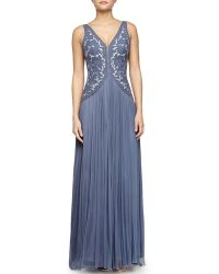 Catherine Deane Silk Tulle Gown With Embroidered Bodice - Lyst