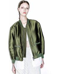 3.1 Phillip Lim - 'tromp L'oeil' Shirt Underlay Satin Bomber Jacket - Lyst