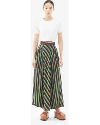 3.1 Phillip Lim - Gathered-front Striped Maxi Skirt - Lyst