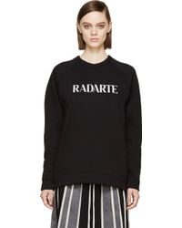 Rodarte Black Burnout Radarte Crewneck Sweatshirt - Lyst