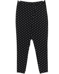 Givenchy Pants Crepe Viscose Black Print Crosses black - Lyst