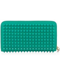 Christian Louboutin Panettone Spikes Wallet green - Lyst
