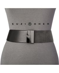 Suzi Roher Suede And Patent Waist Belt - Lyst