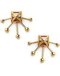 Rebecca Minkoff Pyramid Fan Stud Earring - Lyst