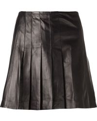 Tess Giberson Pleated Leather Skirt - Lyst