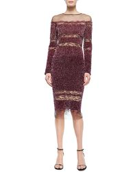 Pamella Roland Tulle Ombre Sequined Dress - Lyst