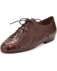 Sesto Meucci Naxos Woven Leather Oxford - Lyst