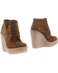 Pierre Hardy Green Ankle Boots - Lyst
