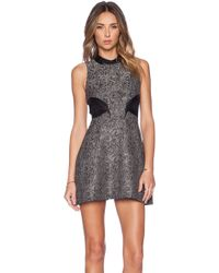 BCBGeneration Dress - Metallic Jacquard - Lyst