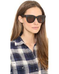 Wonderland - Colony Leather Sunglasses - Lyst