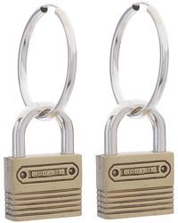 Rodarte Padlock Hoop Earrings - Lyst