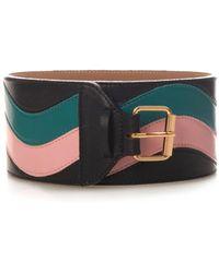 Sophie Theallet Tri-Colour Wave Leather Waist Belt - Lyst