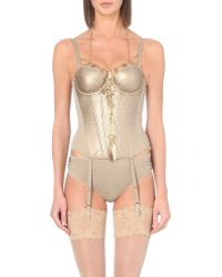 Marlies Dekkers The Victory Corset gold - Lyst