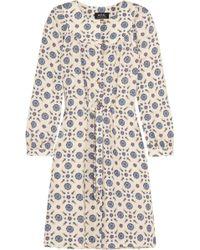 A.P.C. - Riviera Printed Crepe Dress - Lyst