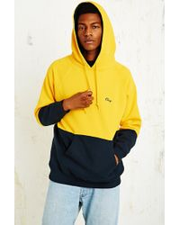 Obey Hangout Sweatshirt in Yellow and Navy - Lyst