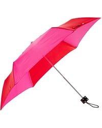 Lulu Guinness Superslim Dice Handle Umbrella pink - Lyst