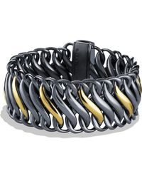 David Yurman Black Gold Chain Bracelet - Lyst