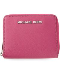 Michael Kors Jet Set Travel Medium Zip Around Wallet - Lyst