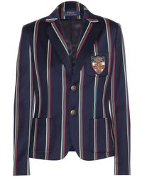 Ralph Lauren Wool and Cottonblend Cricket Jacket - Lyst