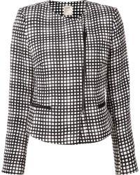 L'Agence Grid Print Jacket - Lyst