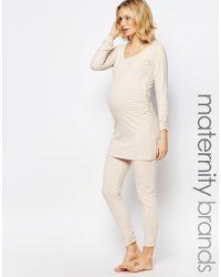 Amoralia - Maternity Leggings - Cream - Lyst