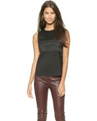 T By Alexander Wang Stretch Silk Twill Bandeau Top  - Lyst