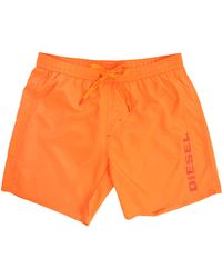 Diesel Markred Orange Long Swim Shorts orange - Lyst