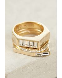 Sarah Magid - Gilded Collage Stacked Rings - Lyst