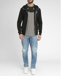 G-Star RAW Black Foul Weather Hooded Zipped Sweatshirt black - Lyst